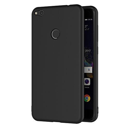 AICEK Cover Huawei P8 Lite 2017, Nero Custodia P8 Lite 2017 Silicone Black Cover per Huawei P8 Lite 2017 Soft TPU Case 5.2 Pollici