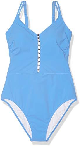 Profile by Gottex Women's V-Neck One Piece Swimsuit, Maharani Blue, 14