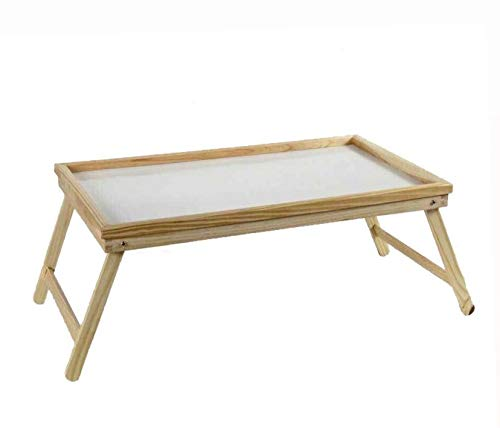 Kasahome Vassoio da Letto Tavolino Pieghevole Legno Colazione Multiuso Gioco 50x30x21 cm