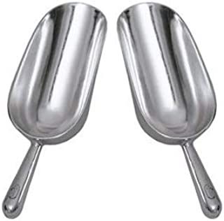 AS-12 SET OF 2, 12 Oz. (Ounce) Bar Ice Scoop, Dry Bin Scoop, Dry Goods Scoop, Candy Scoop, Spice Scoop, Cast Aluminum