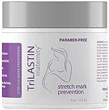 TriLASTIN Maternity Stretch Mark Prevention Cream - Paraben-Free, Hypoallergenic, Safe for Pregnancy & Made in USA - 1, 4 oz jar