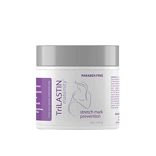 Product Image of the TriLASTIN Maternity Stretch Mark Prevention Cream - Paraben-Free, Hypoallergic,...