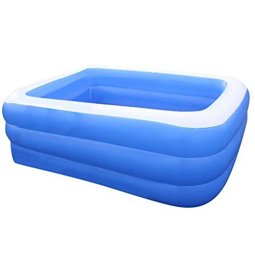 CZYSKY Piscina inflable de la familia, piscina rectangular para los niños, fiesta inflada del agua del verano de las bañeras, 130x90x50cm