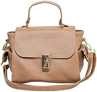 حقيبة للنساء-بني فاتح - حقائب طويلة تمر بالجسم
