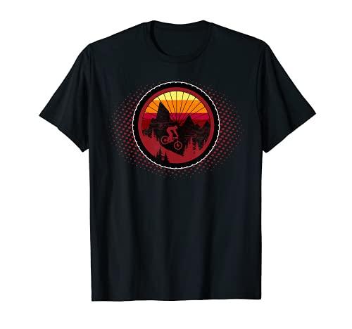 Mountain Bike Wheel - MTB Distressed Mountain Biking T-Shirt