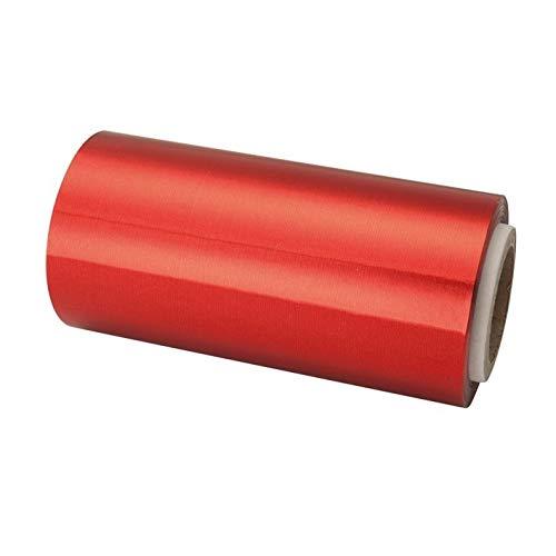 Rollo de Papel Aluminio Para Mechas Uso Profesional 12cm X 70 mts (ROJO)