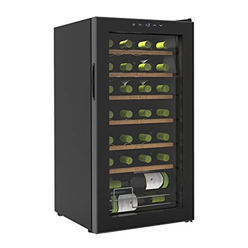 HYXSHOP Vinoteca Doméstica Pequeña Refrigerador De Té De Temperatura Y Humedad Constantes 28 Paquetes Vinoteca Refrigerada con Compresor (Color : Black, Size : 43 * 45 * 84cm)