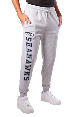 NFL Ultra Game Seattle Seahawks Active Basic Jogger Fleece Pants, X-Large, Heather Grey