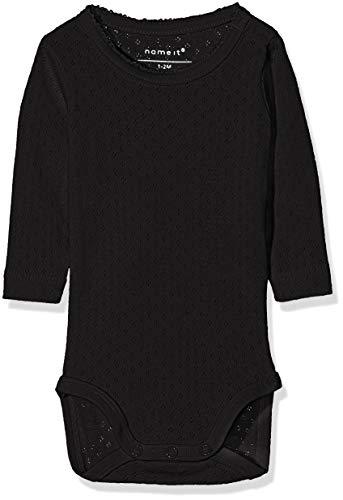 NAME IT NAME IT Baby-Mädchen NBFVITTE LS Body NOOS Strampler, Schwarz (Black), 56