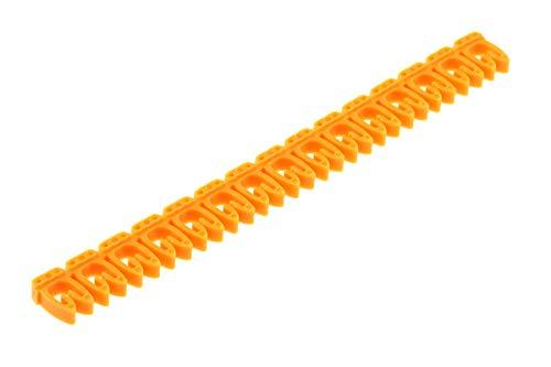 RS PRO Kabelmarkierung, Beschriftung: N  Z, Schwarz auf Gelb x 2.8mm, 195 Stück, Packung a 195 Stück