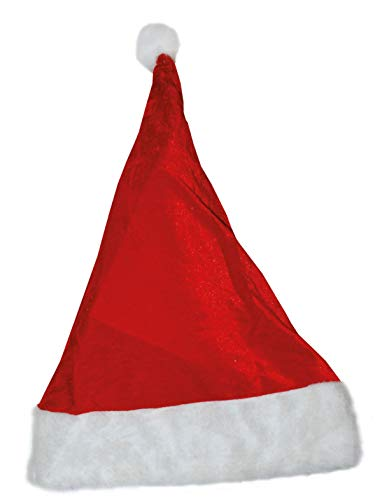 TrendClub100 Fasent-Party® - Gorro de Papá Noel, color rojo y blanco