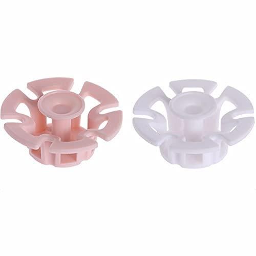 ZXAOYUAN 2pcs Ganchos Adhesivos para los Soportes de Tapones Adhesivos Adhesivos Lindo Enchufe Enchufe Gancho Cable de alimentación Taladro de suspensión - Tenedor de cepillos de Dientes Libre