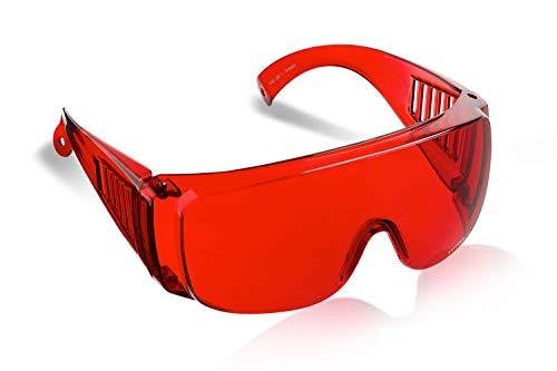 SafetyBlue™ schlaf gläser - kleine bis mittelgroße passt über - Brille besser Schlaf & reduzieren die Belastung der Augen