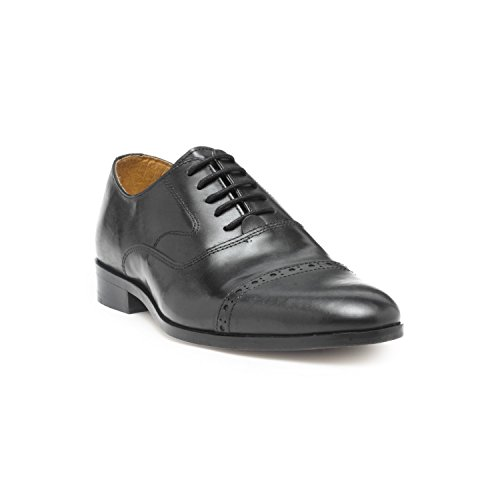 HATS OFF ACCESSORIES Men's Black Leather Formal Shoes