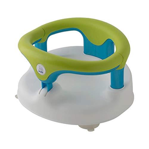 rotho Babydesign Badesitz - Badering für Babys & Kleinkinder ab 7 Monate - Badewannen-Sitz mit Arm- & Rückenlehne für entspanntes Baden