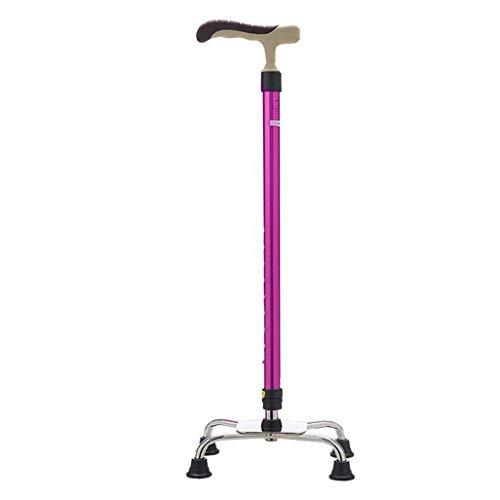 Bastones de andar para personas mayores, aleación de aluminio con mango ergonómico de esponja, 9 niveles de altura ajustables para hombres mayores o mujeres, ayuda de movilidad duradera