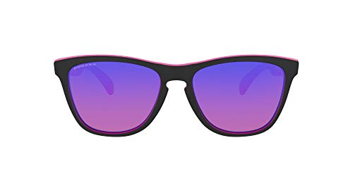 Oakley Men's OO9013 Frogskins Square Sunglasses, Dark Berry Black/Prizm Trail, 55 mm