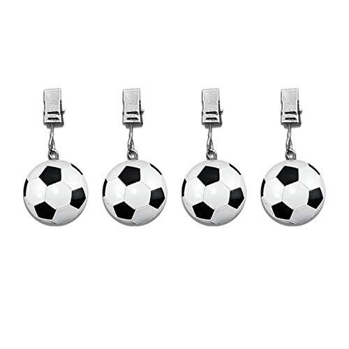 SHACAMO 4er Tischdeckenbeschwerer Fussball