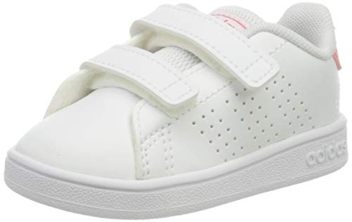adidas Advantage I, Scarpe da Ginnastica, Ftwr White/Real Pink S18/Ftwr White, 22 EU