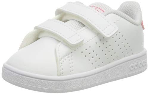 adidas Advantage I, Scarpe da Ginnastica Unisex-Bambini, Ftwr White/Real Pink S18/Ftwr White, 20 EU