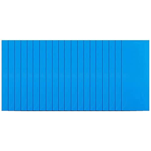 SANGSHI Reparaturset für Pool, Vinyl Reparatur Patch wasserdicht Quadratische Klebstoff PVC Reparatur Patches (blau)