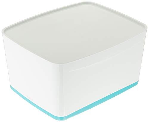 Leitz 52164051 MyBox WOW Grande boîte de rangement avec couvercle Bleu glacé