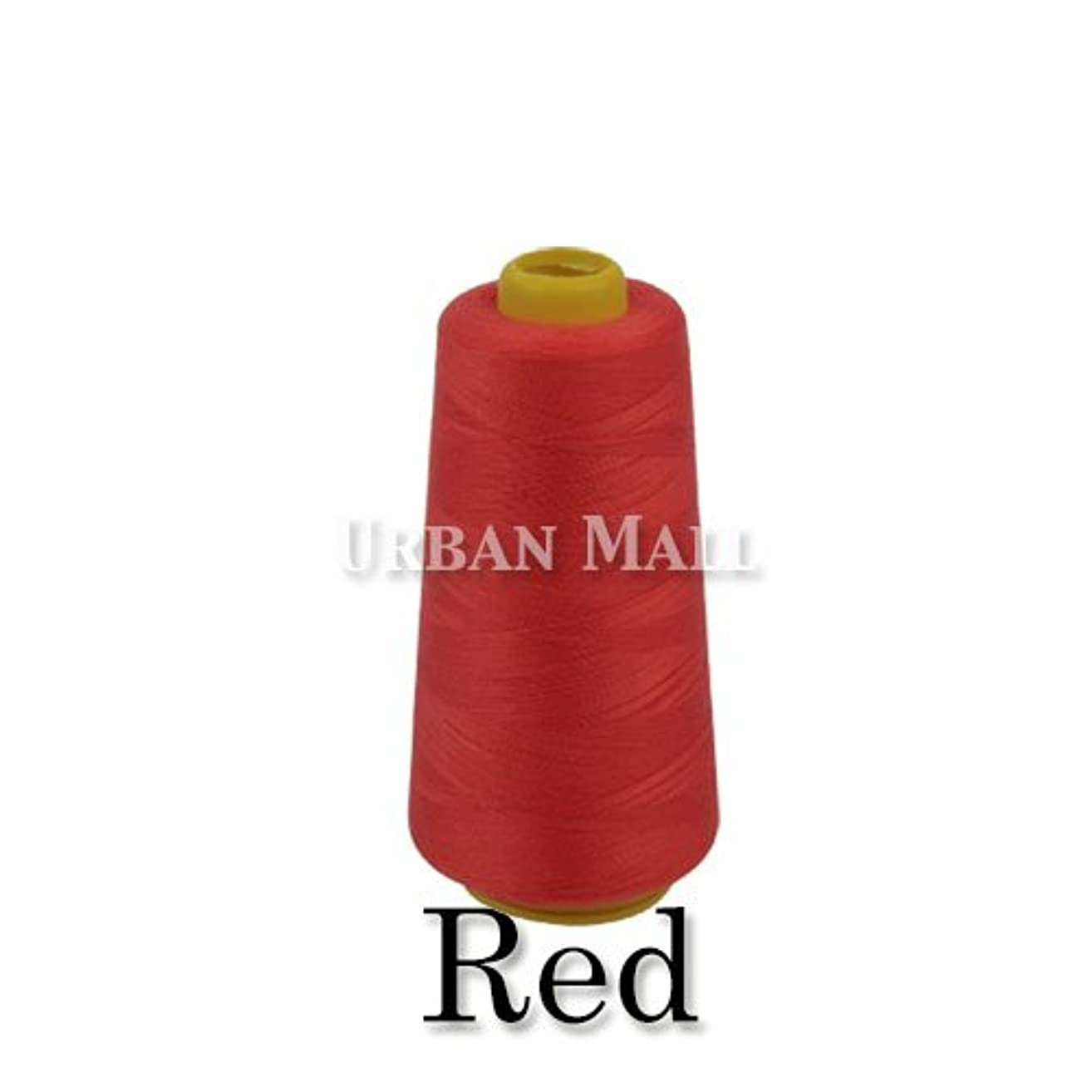6000 Yards Red Sewing Thread All Purpose 100% Spun Polyester Spools Overlock Cone (Upholstery, Canvas, Drapery, Beading, Quilting) (Red)