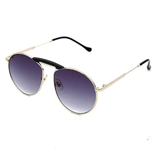 Burenqi@ Pilot Zonnebril Heren Dames Rond Metaal Klassiek Mannelijk Spiegel Zonnebril Dubbelzijdig Damesbrillen Uv400