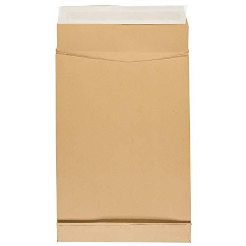 Idena 10250 - Faltentasche DIN C4, mit 4 cm Bodenfalte, 130 g/m², haftklebend, ohne Fenster, 100 Stück, FSC-Recycled, natron-braun
