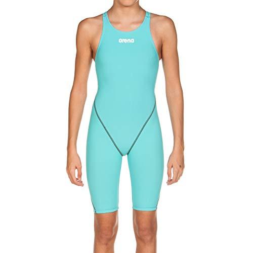 ARENA Mädchen Powerskin St 2.0 Badeanzug mit offenem Rücken, Mädchen, Badeanzug, 2A956-681-26, aquamarin, 26