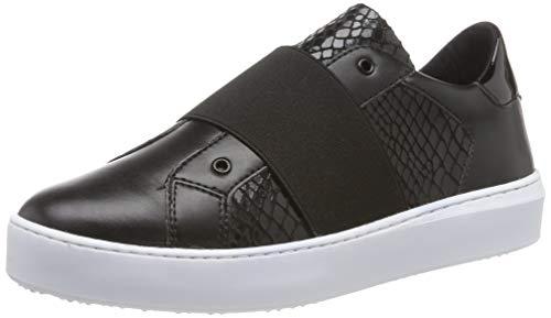 Tamaris Damen 1-1-24717-32 Slip On Sneaker, Schwarz (Black/Snake 056), 37 EU