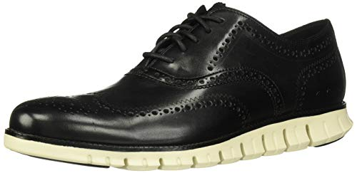Cole Haan Zerogrand Wing Ox Black Closed Holes/White 7