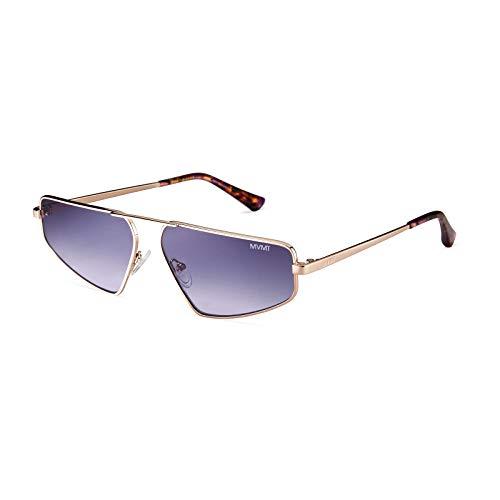 MVMT Cypher | Non-Polarized Round Women's & Men's Sunglasses | Gold/Purple