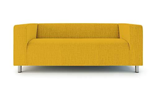 TLY Klippan Loveseat Cover 2 Seater Sofa Cover For Ikea Klippan Sofa Slipcover Snug Fit-Yellow