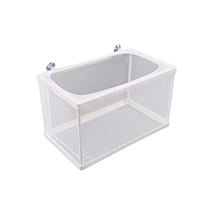 Saim Fish Tank Aquarium Plastic Frame White Spawning Box Breeder with Suction Cups