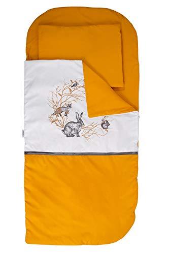 Sango Trade Nap 's Mat Slumber tas Hoeslaken Kleinkinderschlafsack Von 3 Bis 6-7 Jahre Schlafsack für Kleinkinder Krippe Kindergarten Zuhause Bettwäsche für Kinderbett (Waldfreunde)