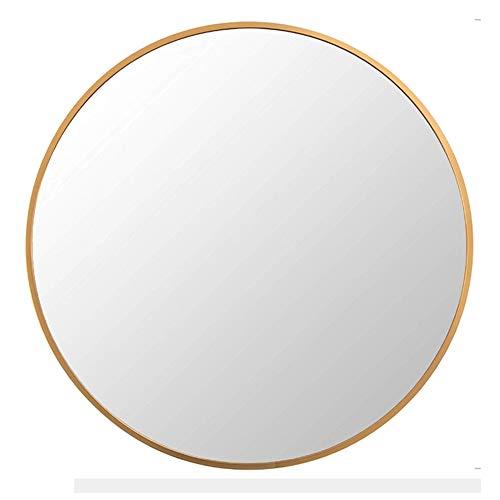 "FANYUSHOW Large Simple Round Metal Frame Mirror 24"" WallMounted Mirror for Bedroom Bathroom Living Room Entryway Vanity Mirror"
