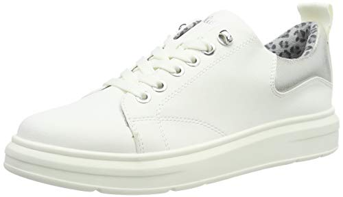 s.Oliver Damen 5-5-23627-33 100 Sneaker Weiß (White 100), 36 EU