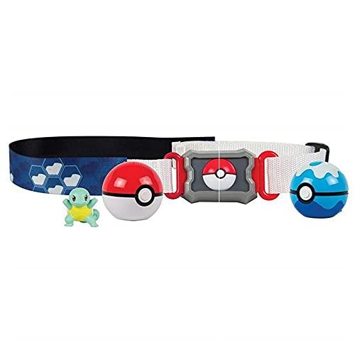 liuyb Pokemon Pocket Monsters Pokeball Elf Cinturón Telescópico Conjunto Figura Coleccionable Juguete De Acción para Niños