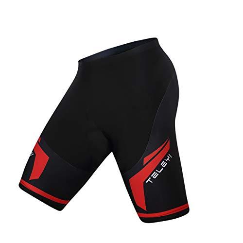 weimostar Fahrrad-Shorts für Herren, mit Polsterung, eng anliegend, 3D-Gel-Polsterung, bequem, atmungsaktiv Gr. XL (Taille 27.5/32