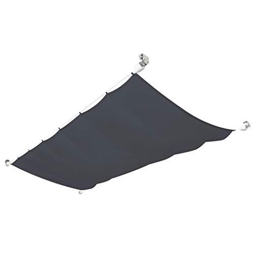 Festnight- Seilspann Markise Sonnenschutz Balkonmarkise für Balkon Terrasse Garten Wasser- und UV-beständig Oxfordgewebe 140×270 cm Grau