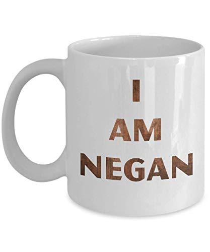 N\A Soy Negan Walking Dead Merchandise Negan Lucille Rick Grimes Daryl Glenn Ezekiel Taza de café, Divertida, Taza, té, Regalo para Navidad, día del Padre, Navidad,