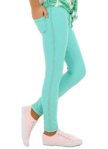 Dykmod Mädchen Frühling Leggings Leggins Jeans-Optik Look hk135 122 Minze