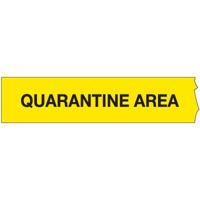 Barricade Tape 3'WX1000'L-Quarantine. Roll of 1000 Feet