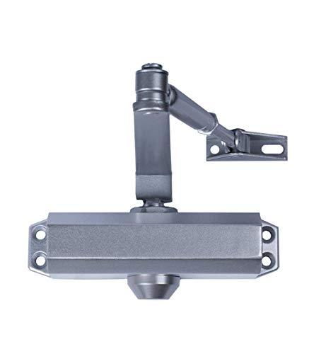 Schließen Türen mit Feststeller für Stärke 3. Silber (Tür 80/100cm.)