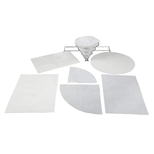 Royal Paper Filter Envelopes with 7/8 Inch Double Sided Hole, 11 Inch x 13 Inch, Package of 100