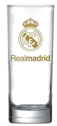 Copo Scotland Real Madrid Logo Ouro 330 Ml Globimport Transparente