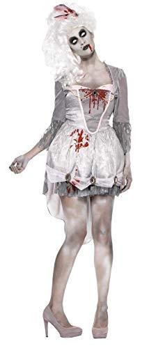 Smiffys, Damen Zombie im 18.Jahrhundert Kostüm, Kleid, Strumpfband und Haarschmuck, Größe: L, 61102