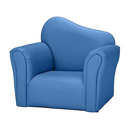 HQSB Sofá para niños tapizado de piel de PVC, resistente construcción de madera, sillón para niños, regalo para niños y niñas