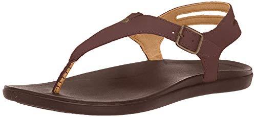 OluKai Eheu - Womens Comfort Sandal Kona Coffee/Kona Coffee - 5